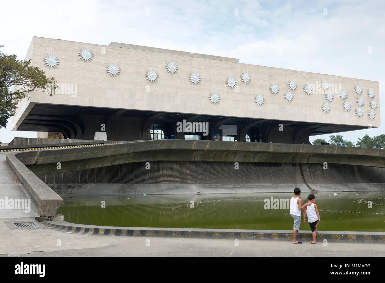 Centro Culturale delle Filippine, Bay City Metro Manila, Filippine Immagini Stock