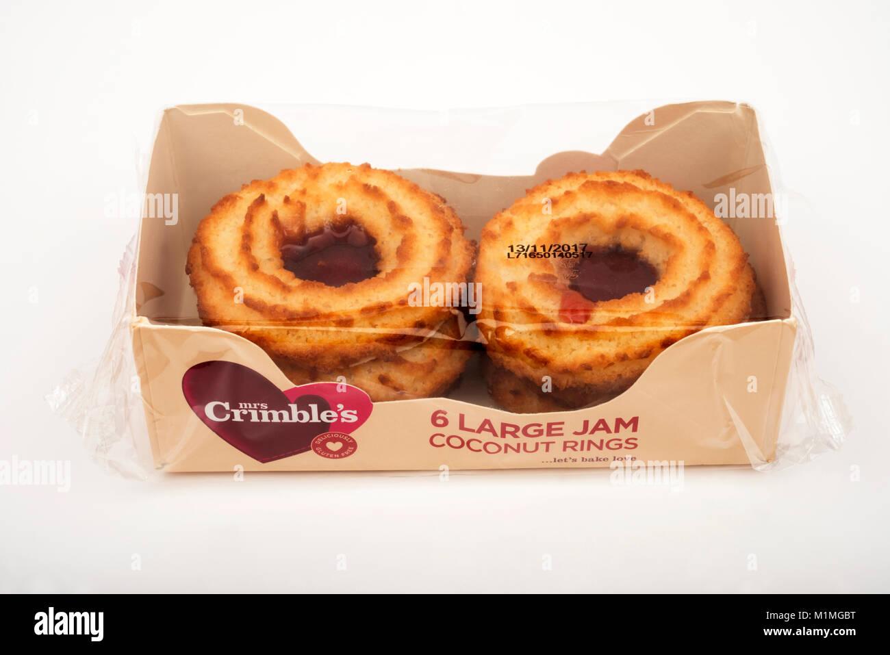 Onorevole Crimbles inceppamento anelli di cocco Immagini Stock