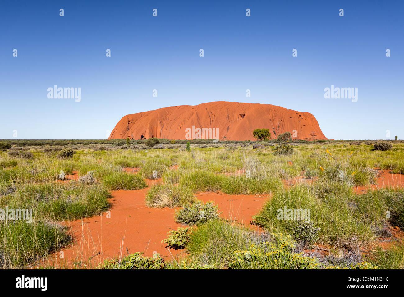 Uluru, Red Centre, il grande Outback. Territorio del Nord, l'Australia Foto Stock