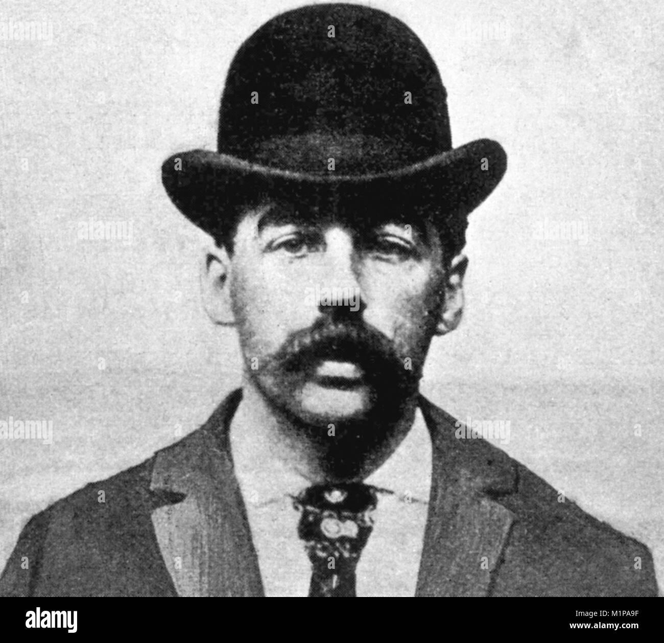 Il Dott. Henry Howard Holmes, Herman Webster Mudgett (1861 - 1896), noto come il dottor Henry Howard Holmes, comunemente Immagini Stock