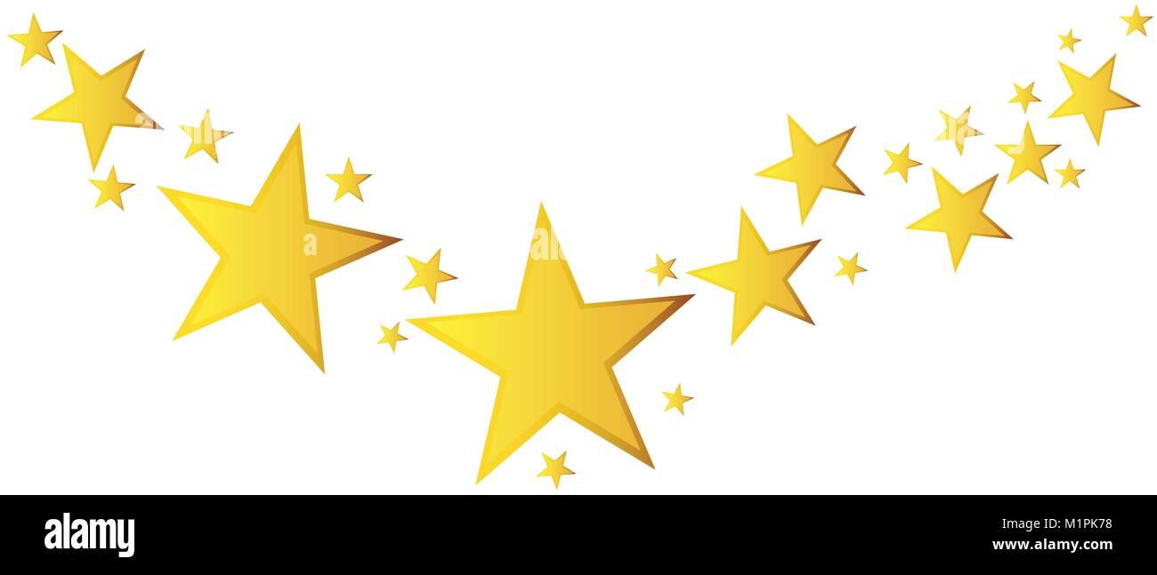 Stella Cadente Di Natale.Abstract Stella Cadente Vettore Illustrazione Con Golden Stelle Di Natale Su Sfondo Bianco Immagine E Vettoriale Alamy
