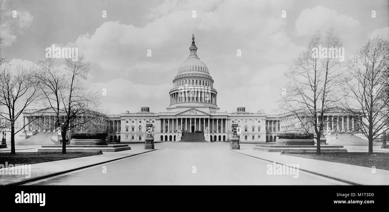 Stati Uniti Capitol Building, Washington DC, Stati Uniti d'America, Detroit Publishing Company, 1910 Immagini Stock