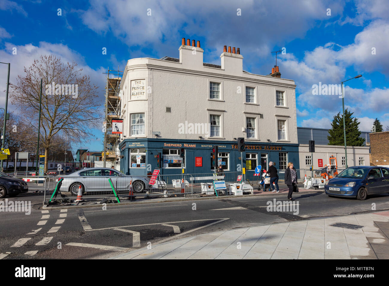 Il Prince Albert pub in Bexleyheath centro città, London Borough of Bexley, Regno Unito Immagini Stock