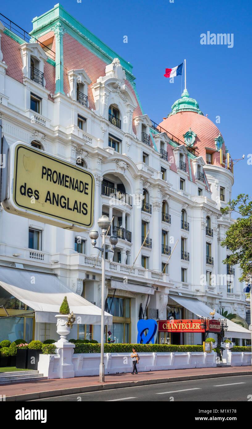 Francia, dipartimento delle Alpi Marittime, Côte d'Azur, Nizza Promenade des Anglais, l'Hotel Negresco Immagini Stock