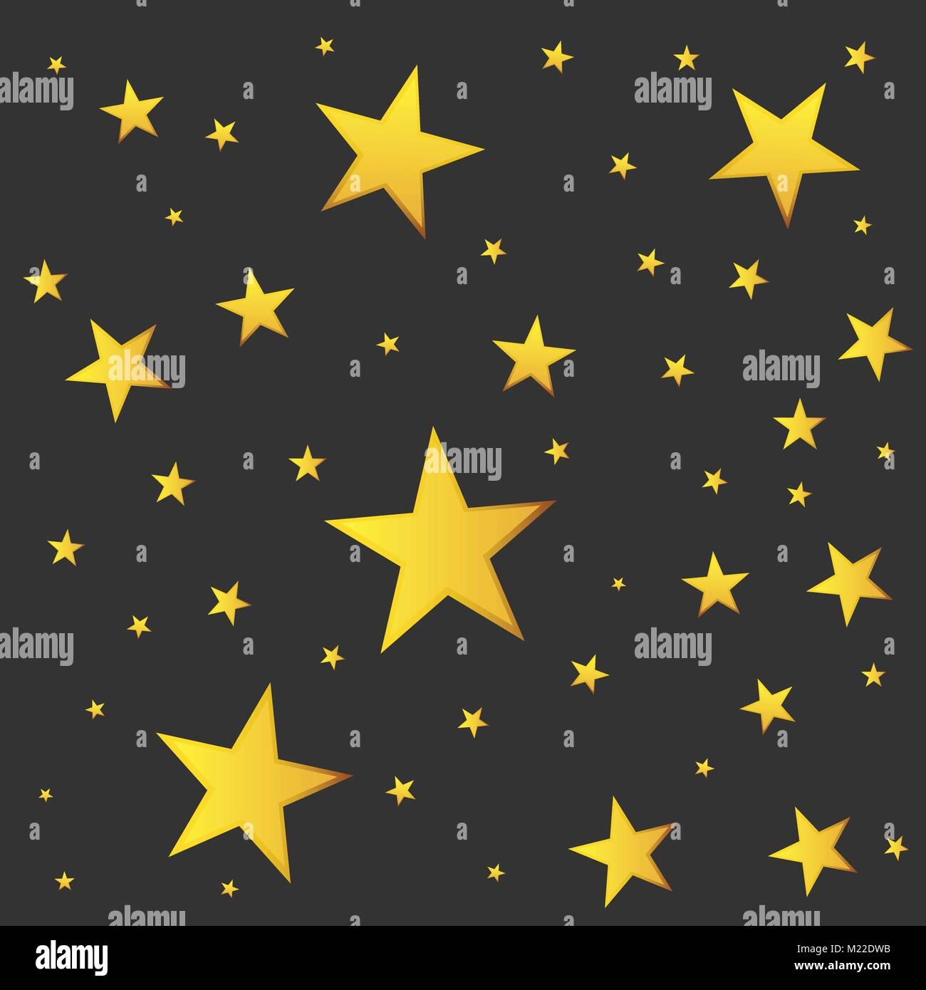 Stella Cadente Di Natale.Abstract Stella Cadente Vettore Illustrazione Con Golden Stelle Di Natale Su Sfondo Nero Immagine E Vettoriale Alamy