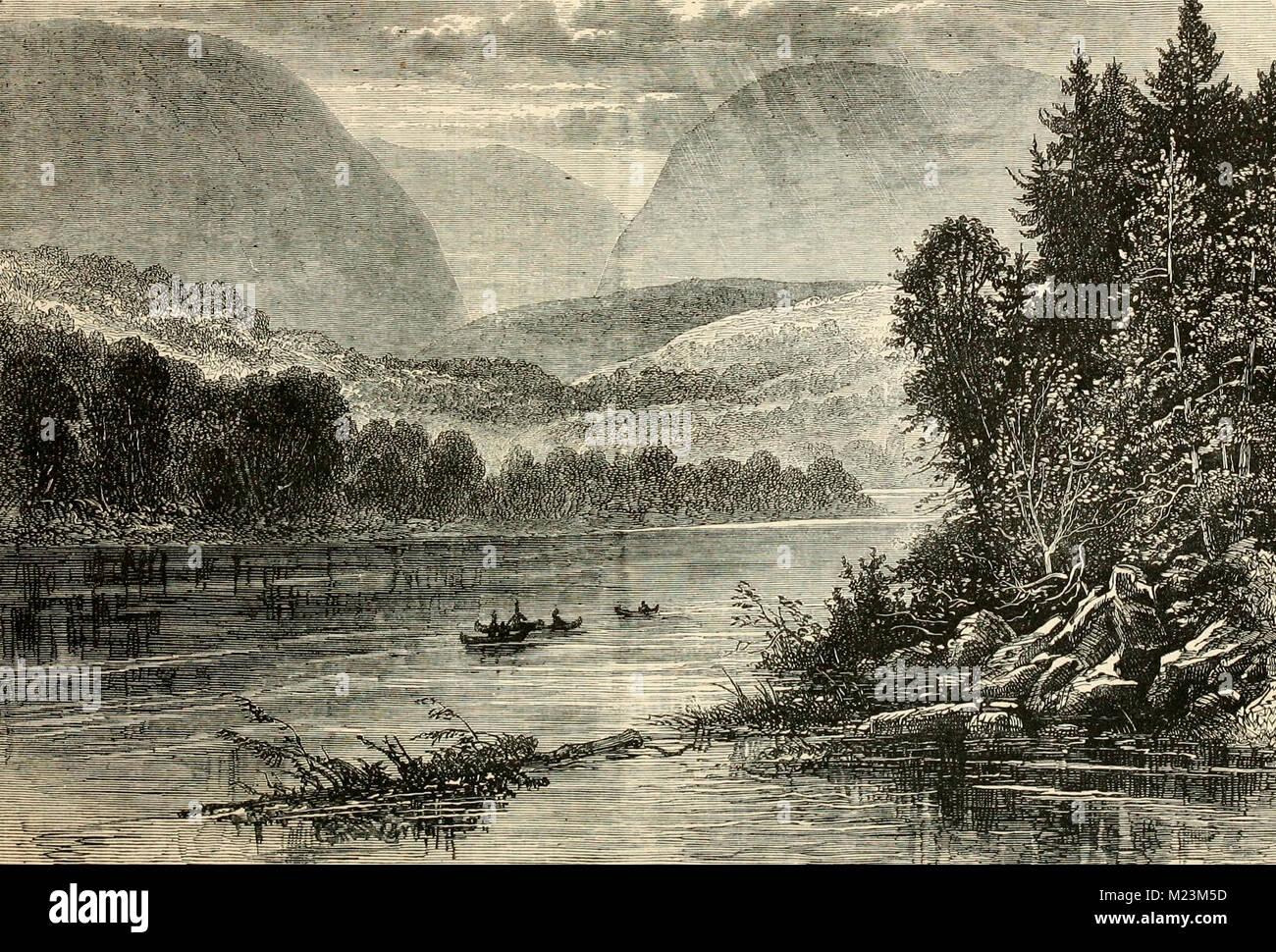 Vista del fiume Delaware, 1800 Immagini Stock
