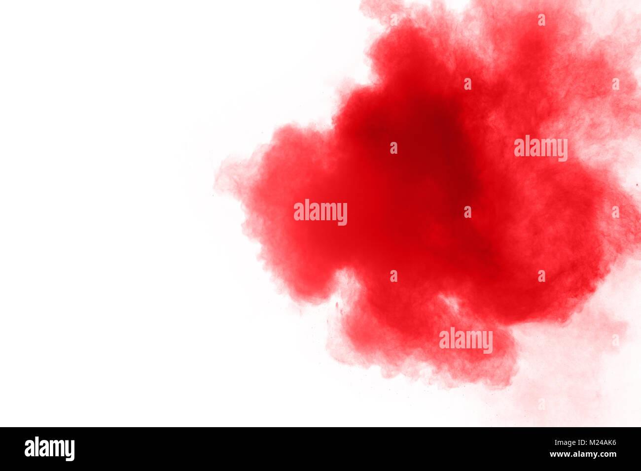 Abstract Polvere Rossa Opener Su Sfondo Bianco Rosso Di Esplosione