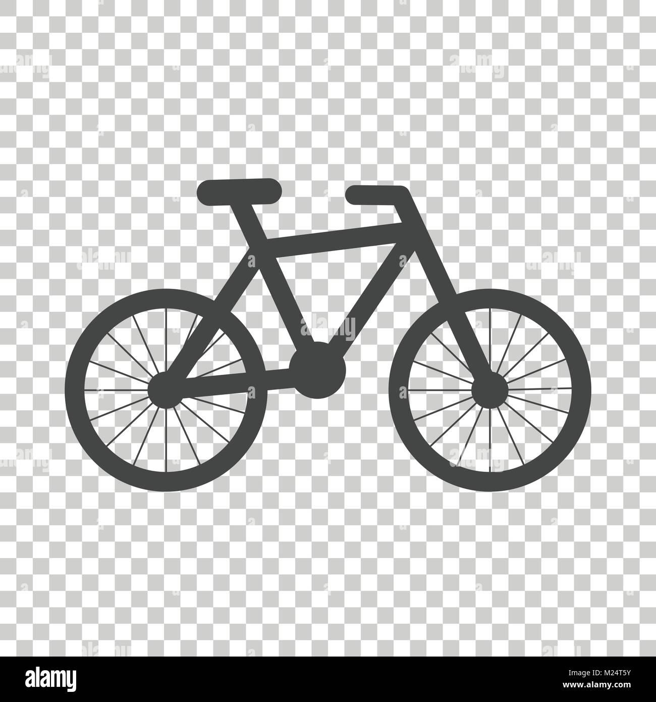 Silhouette Bike Icona Sullo Sfondo Isolato Bicicletta Illustrazione