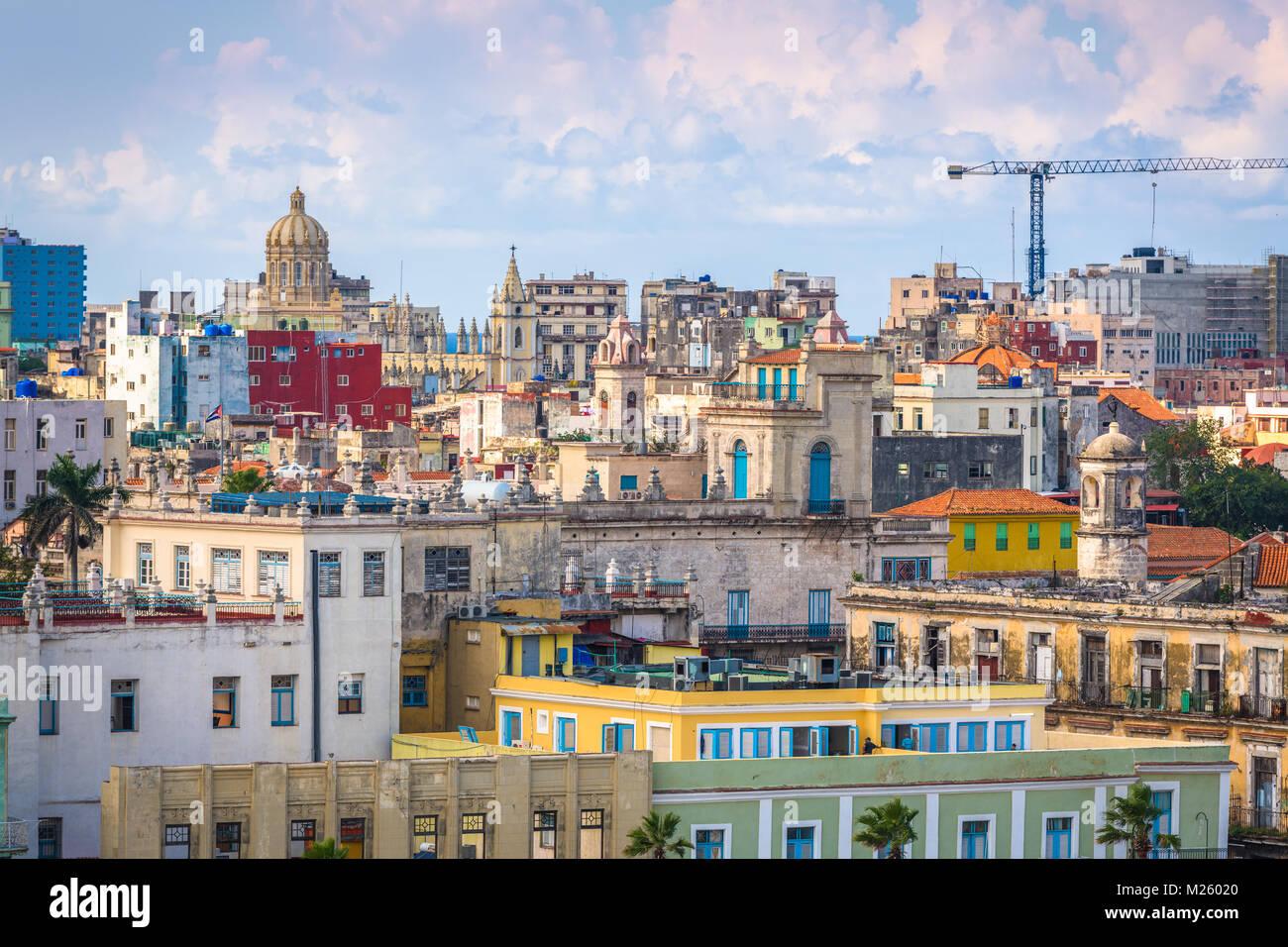 L'Avana, Cuba skyline del centro. Immagini Stock