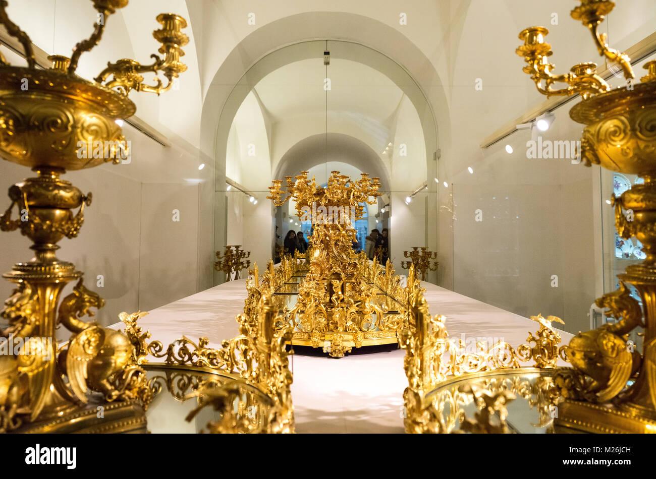 Austria, Vienna Hofburg, la Collezione dei Mobili Imperiali Immagini Stock