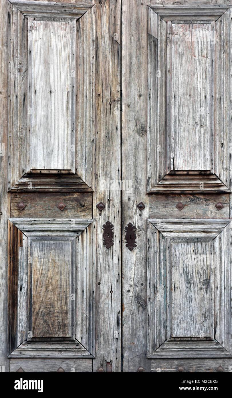 Foto Di Porte Antiche una bella shabby chic in legno di antiquariato coppia di
