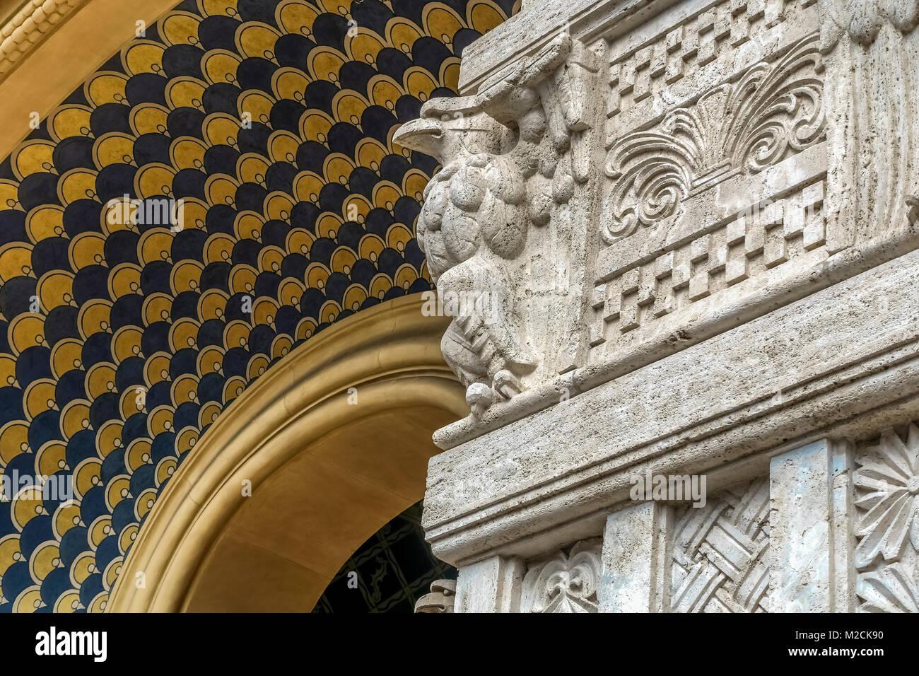 Soffitti A Volta Decorazioni : Dipinti restauro pittorico soffitto ocrarossa