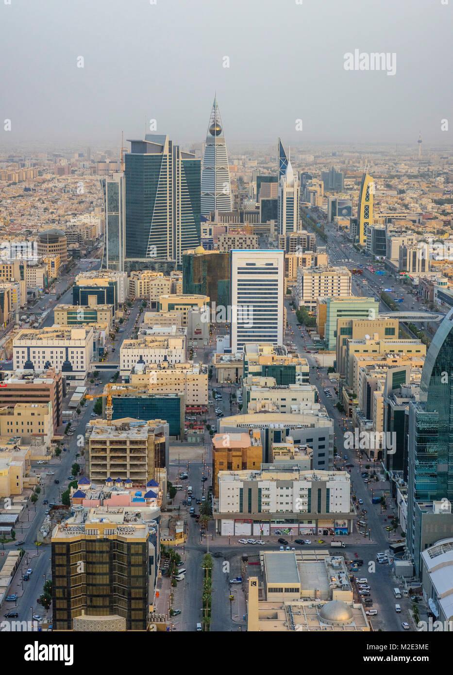 "'Vista aerea del paesaggio urbano, Riyadh, Arabia Saudita"" Immagini Stock"