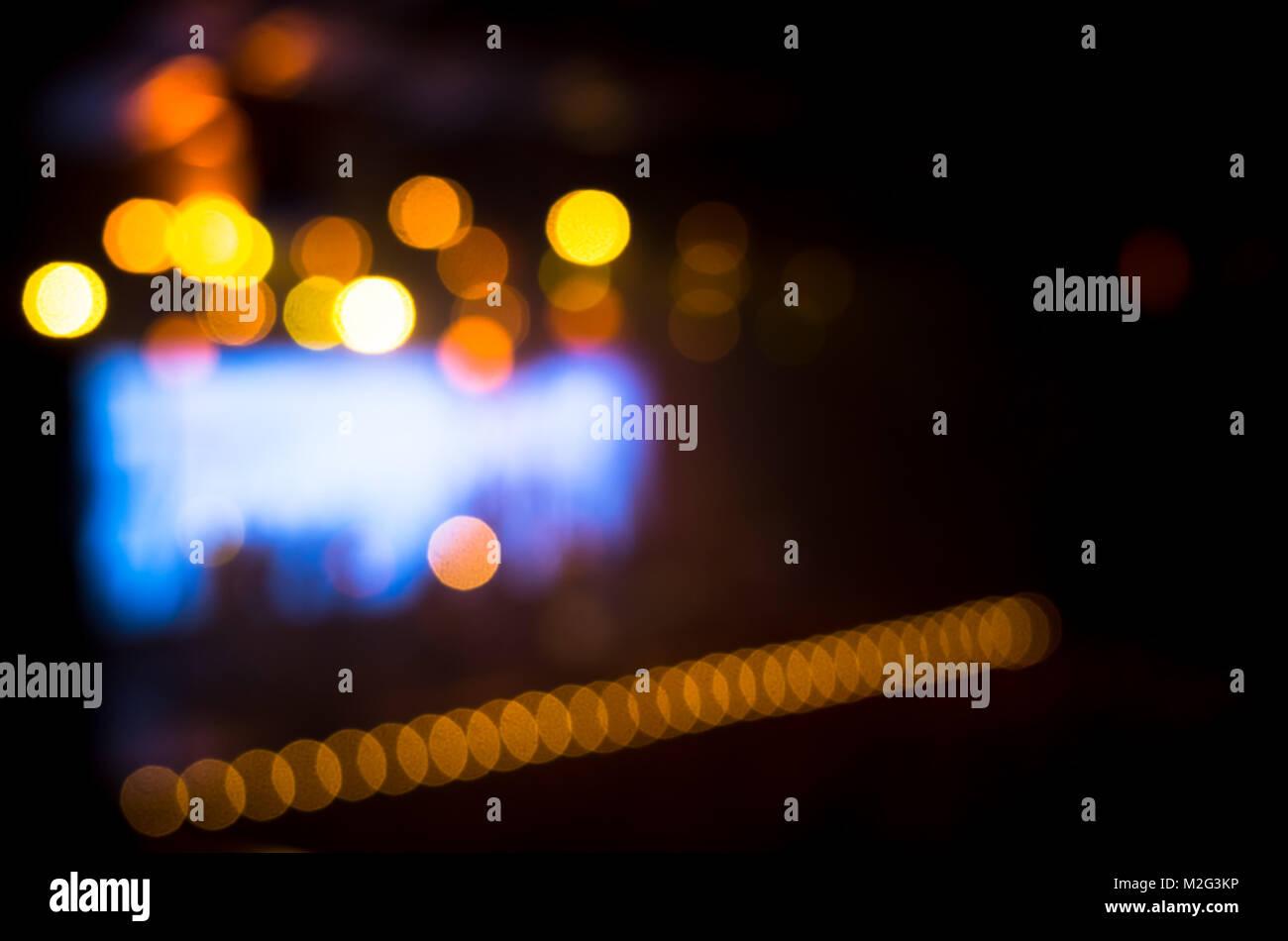 Foto sfocata sullo sfondo musica concert hall con illuminazione