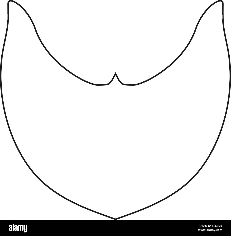 Icona Arte Linea Barba Poster Castoro Uomo Barbuto Padre Papà