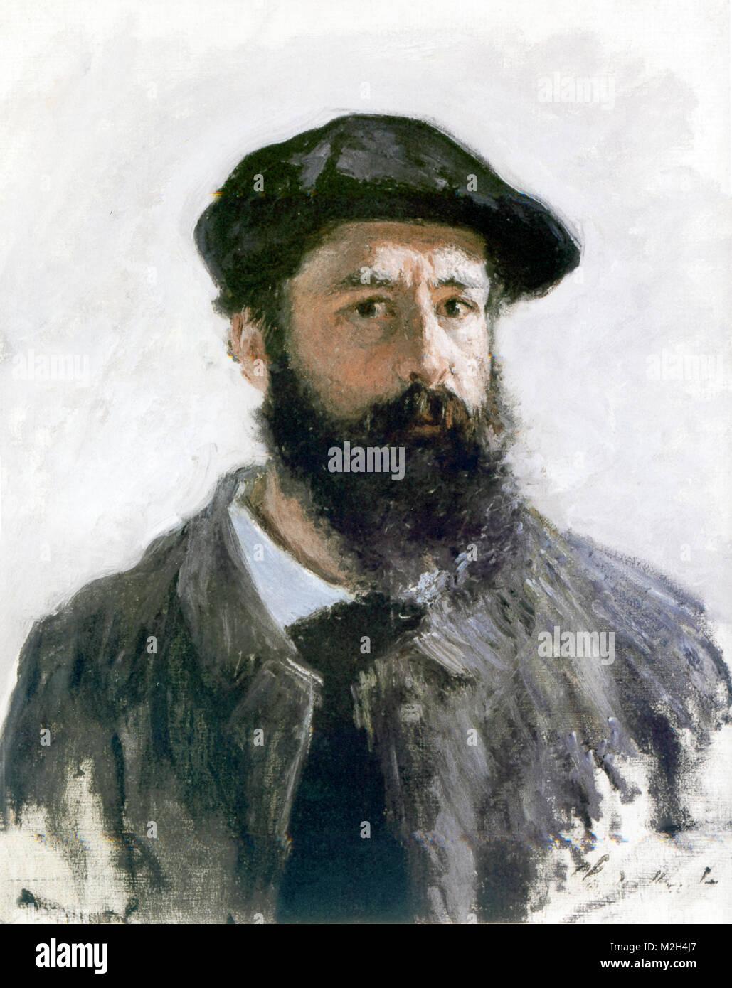 CLAUDE MONET (1840-1926) francese pittore impressionista. Ritratto di auto 1886. Immagini Stock