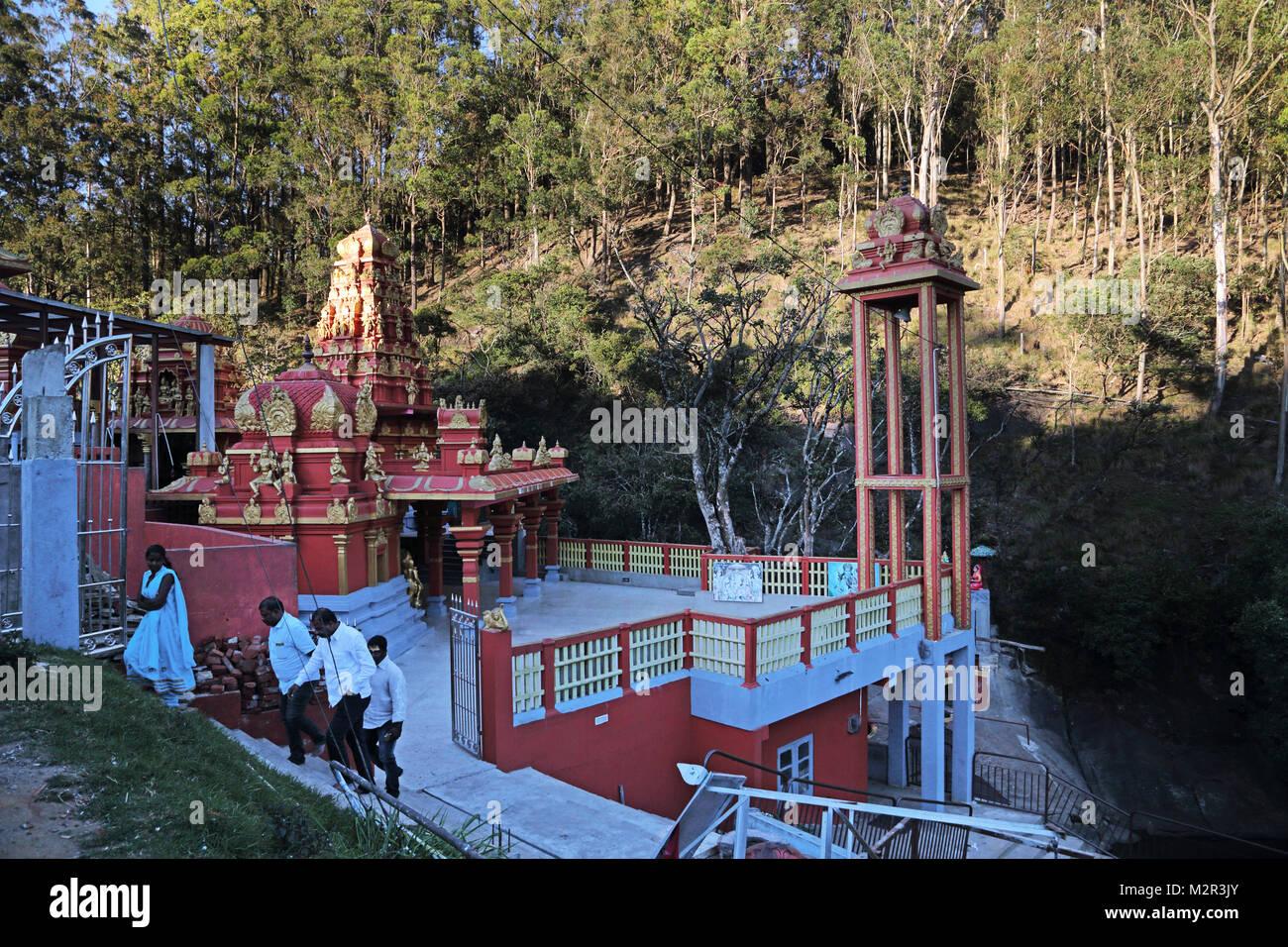 Sita Amman Tempio Seetha Eliya centrale Provincia dello Sri Lanka ha detto di essere il luogo dove Ravana detenute Immagini Stock