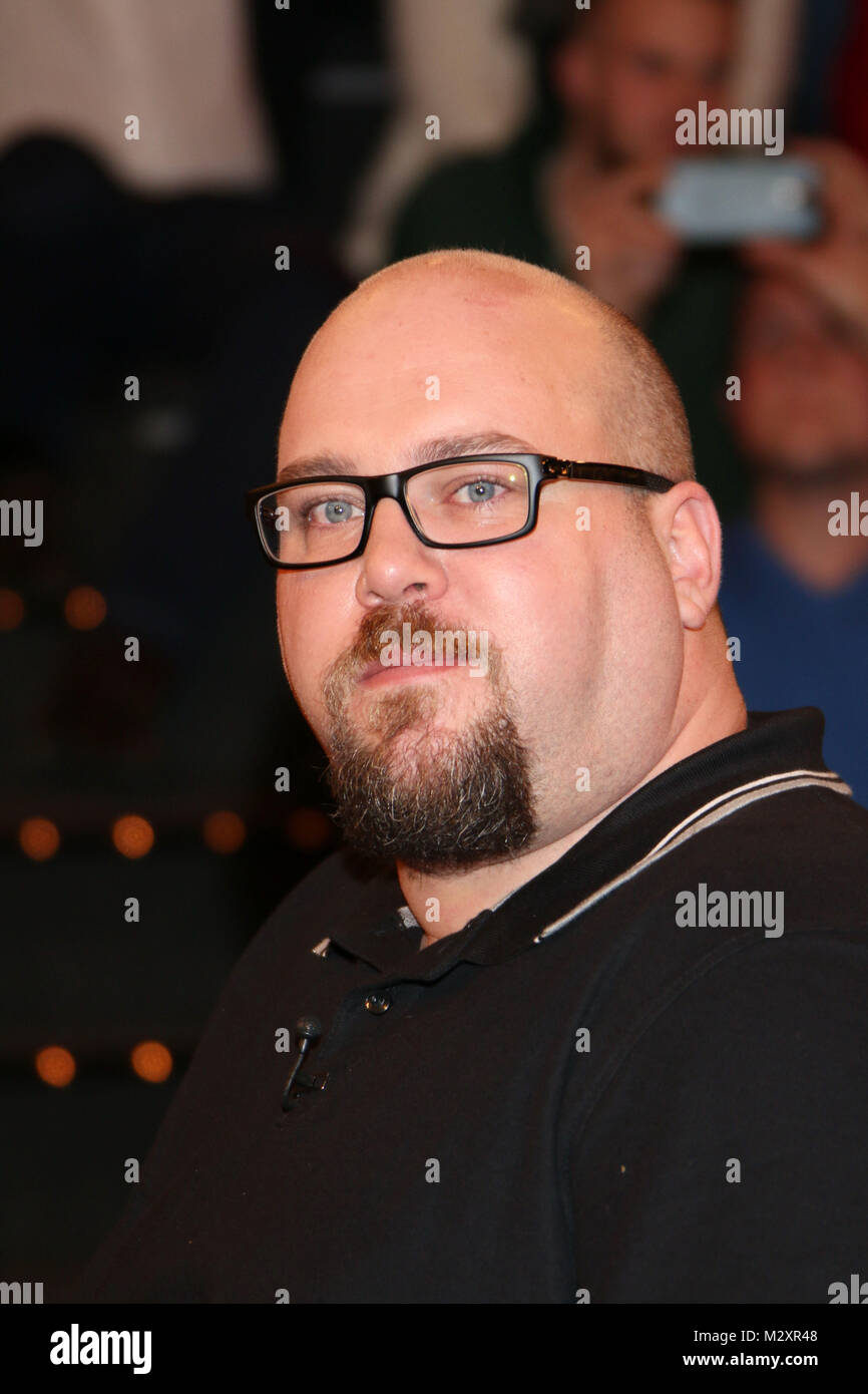 Stefan Bauer (arbeitete als Rettungsassistent in Saudi-Arabien), Lanz, Aufzeichnung 2 vom 27.01.2015 Immagini Stock