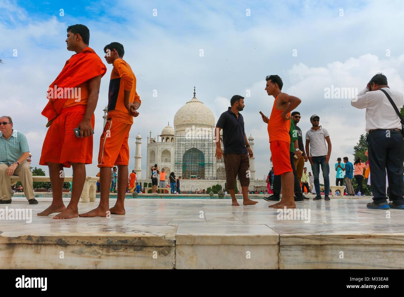 Taj Mahal Palace, Agra, Uttar Pradesh, India Immagini Stock