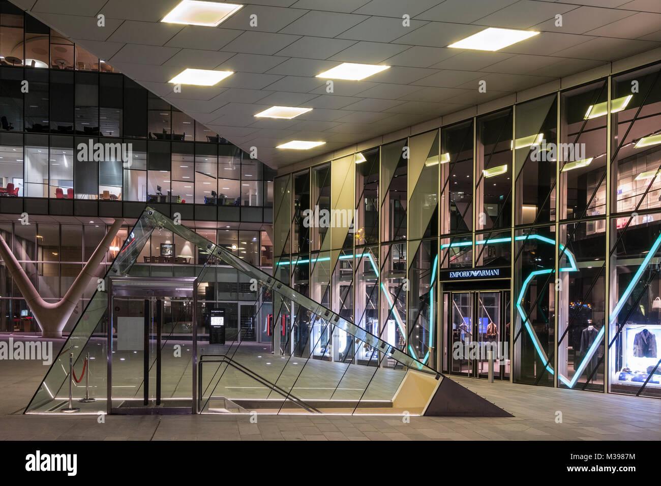 La moderna architettura di Deansgate, Manchester, Greater Manchester, Inghilterra, Regno Unito Immagini Stock