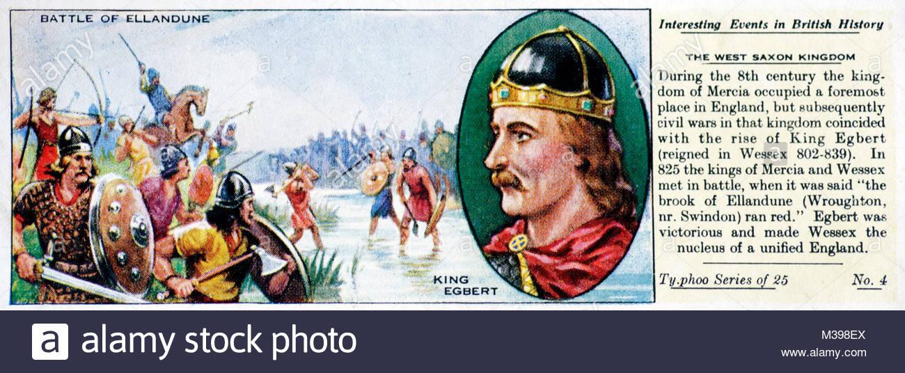 Eventi interessanti nella storia britannica - Ovest Regno sassone Immagini Stock