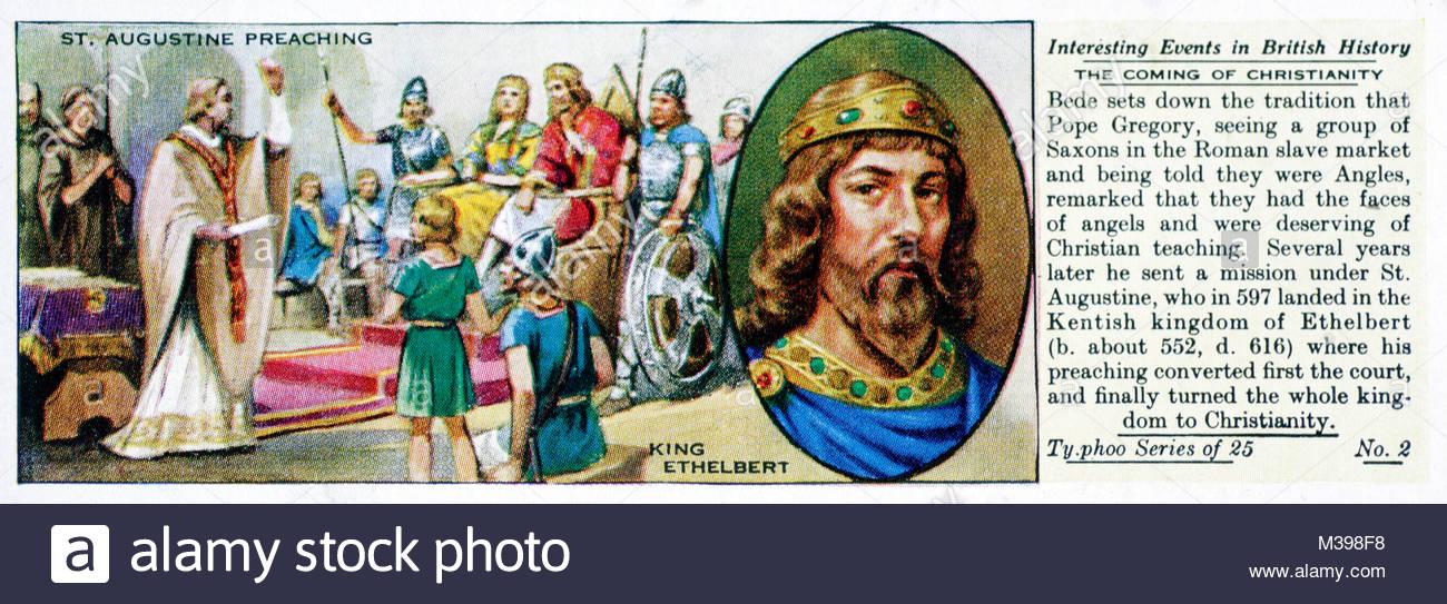 Eventi interessanti nella storia britannica - la venuta del cristianesimo Immagini Stock