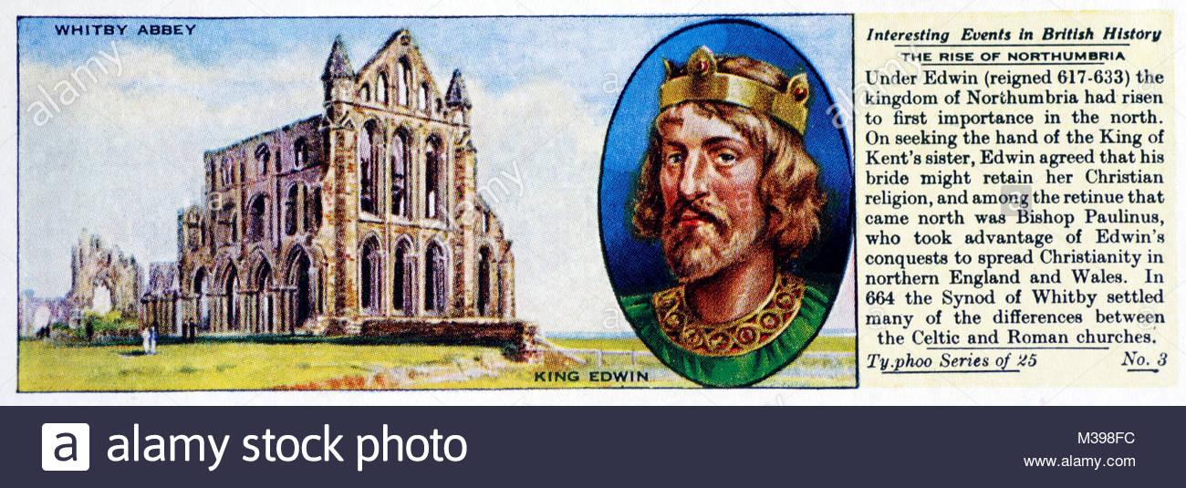 Eventi interessanti nella storia britannica - il luogo di Northumbria Immagini Stock