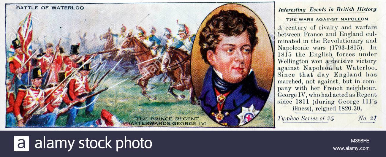 Eventi interessanti nella storia britannica - la battaglia di Waterloo Immagini Stock