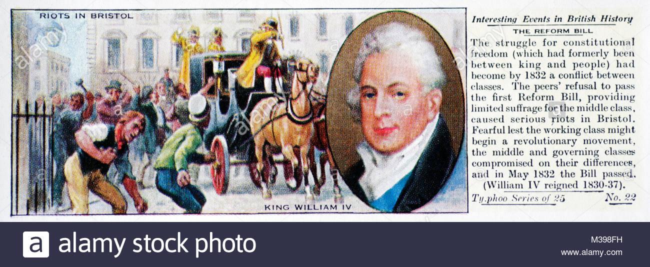 Eventi interessanti nella storia britannica - La riforma di legge Immagini Stock