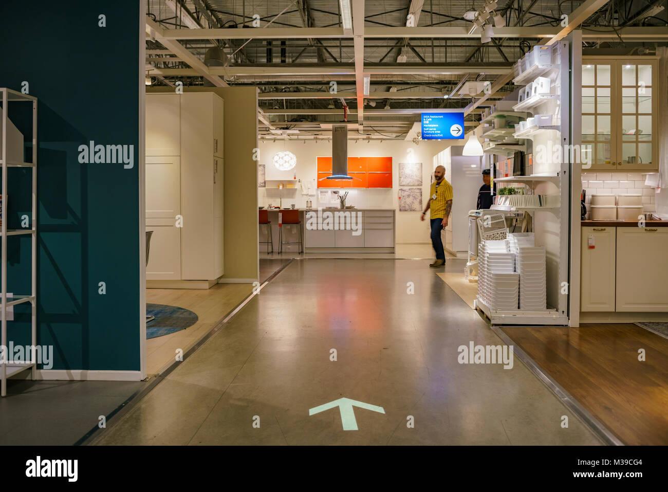 Los Angeles, DIC 28: vista dell'interno del famoso mobili IKEA memorizza sul dicembre 28, 2017 a Los Angeles Immagini Stock