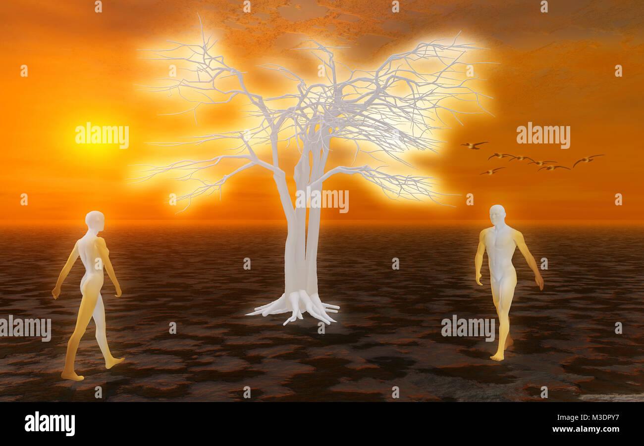 Adam & Eve o il cielo Immagini Stock