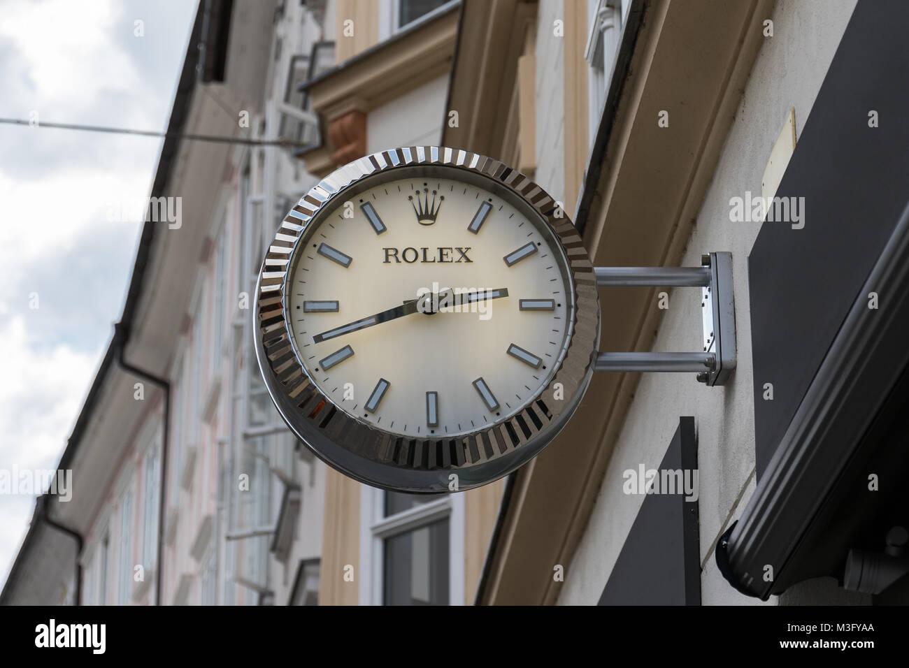 47c4ff0fb012db Orologio Rolex orologio al di fuori di gioielleria Immagini Stock