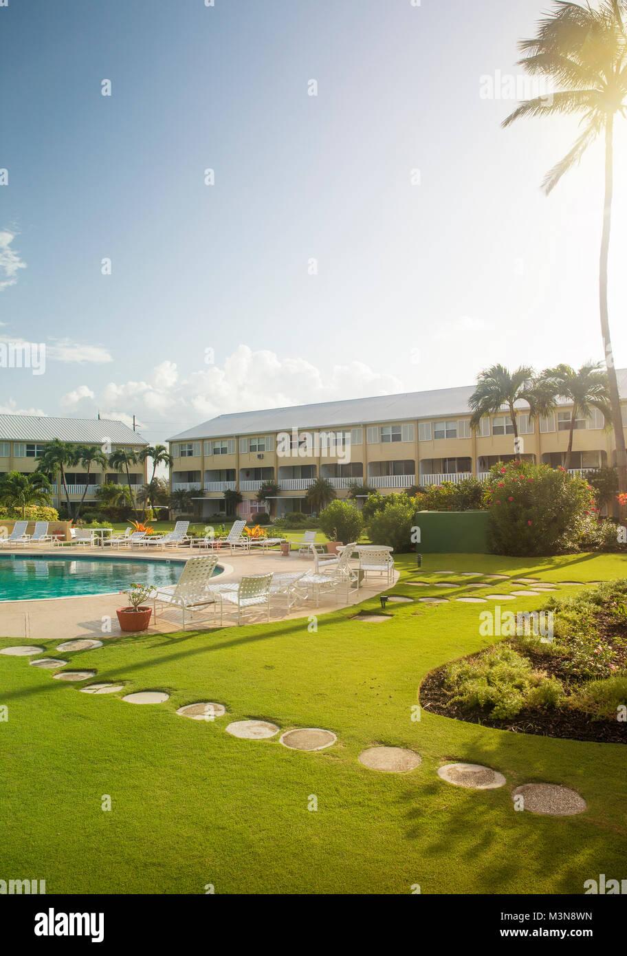 Resort di lusso su un isola dei Caraibi Immagini Stock