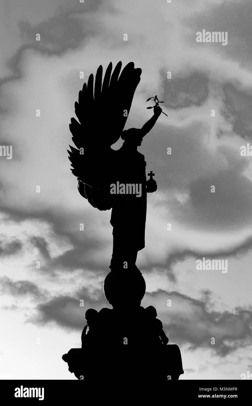 Pace Bianco E Nero un photoshopped immagine in bianco e nero della statua della