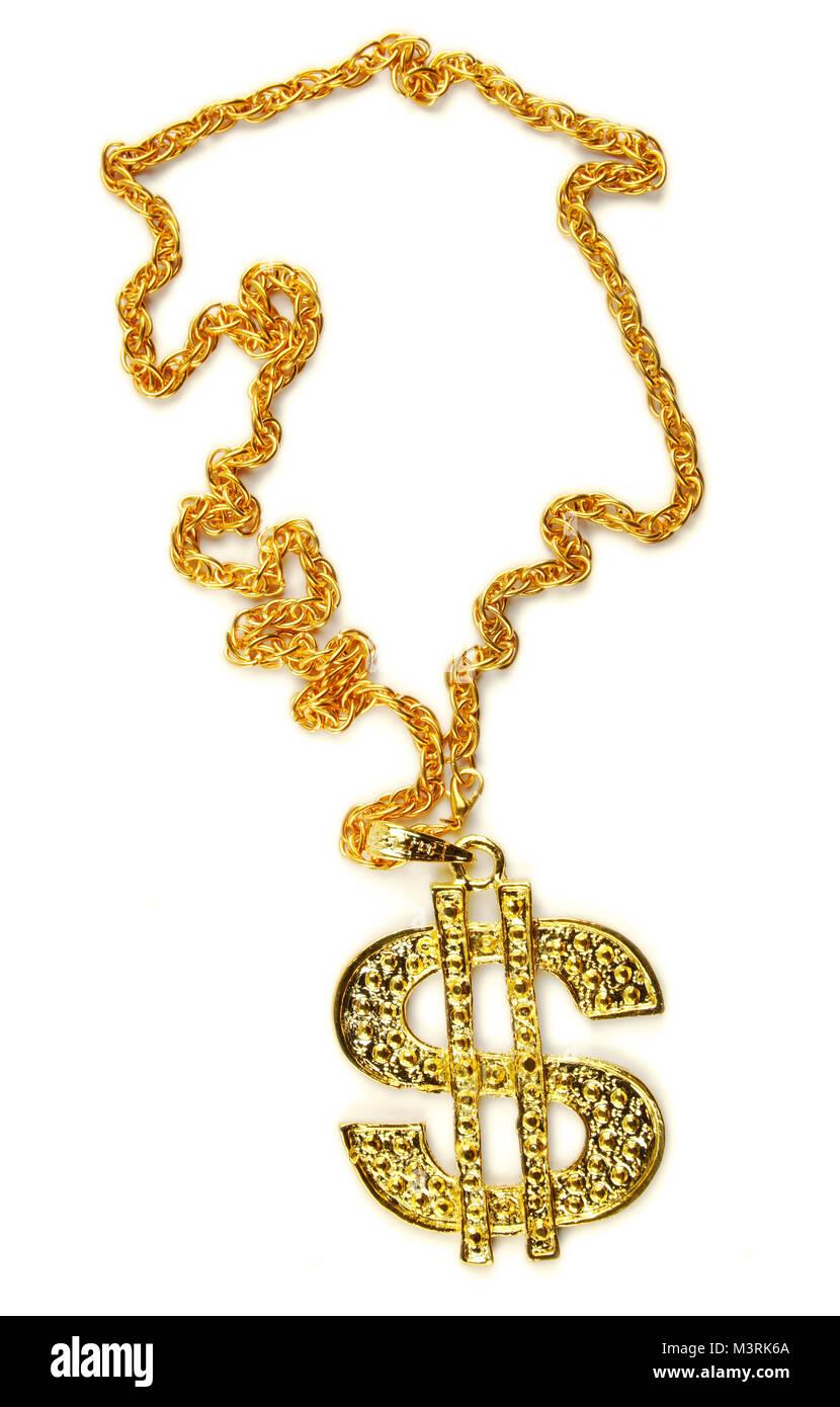 Bling Simbolo Del Dollaro Collana
