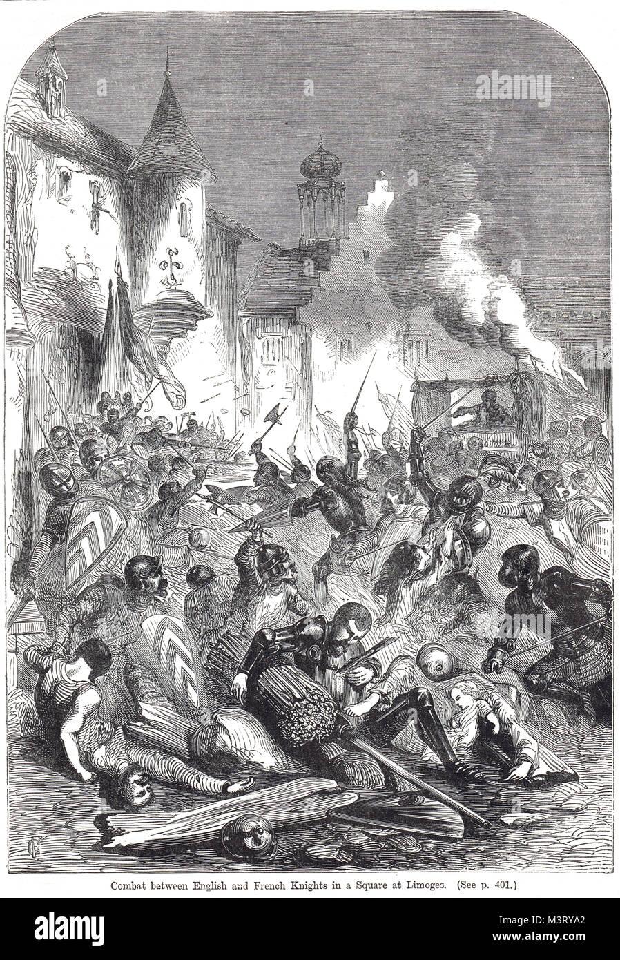 L'Assedio di Limoges, 19 Settembre 1370 Immagini Stock