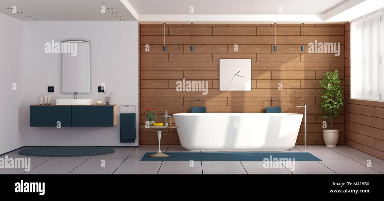 Lavandini Da Bagno Moderni : Bagno moderno con vasca da bagno e lavandino d rendering foto