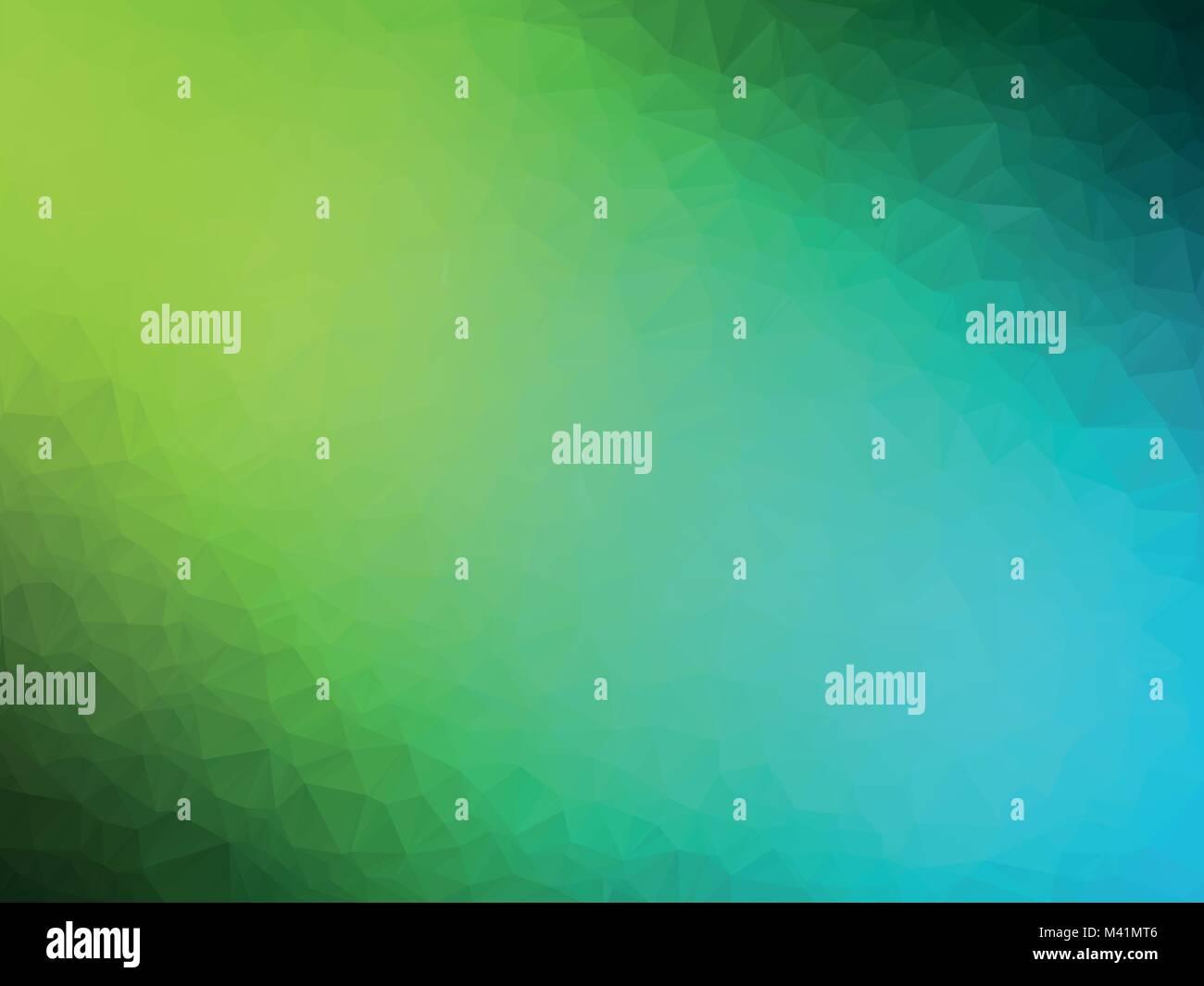 Abstract Verde Azzurro Sfondo Geometrica Illustrazione Vettoriale