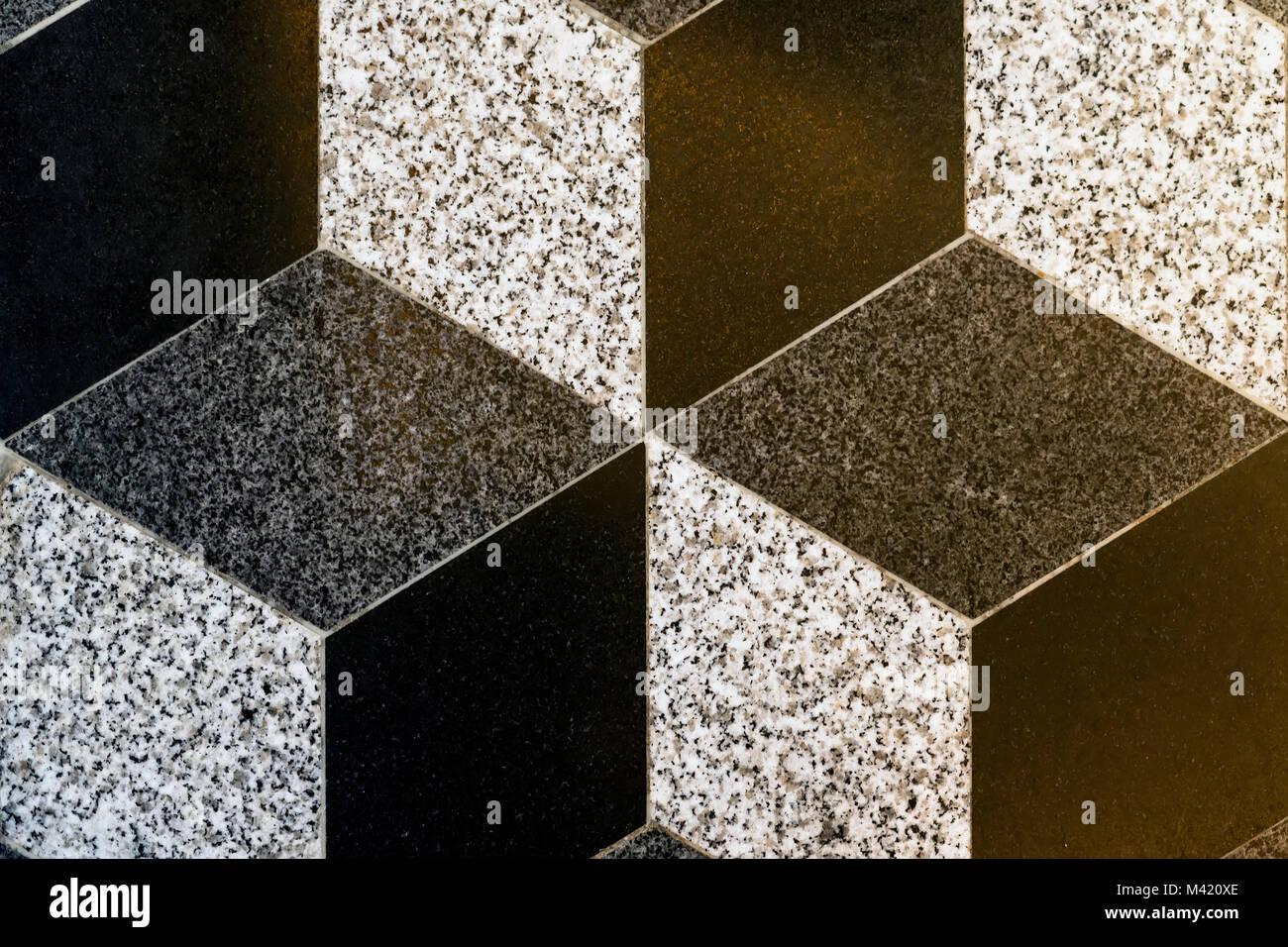 Parte del mosaico di rombo piastrelle da pavimento sfondo