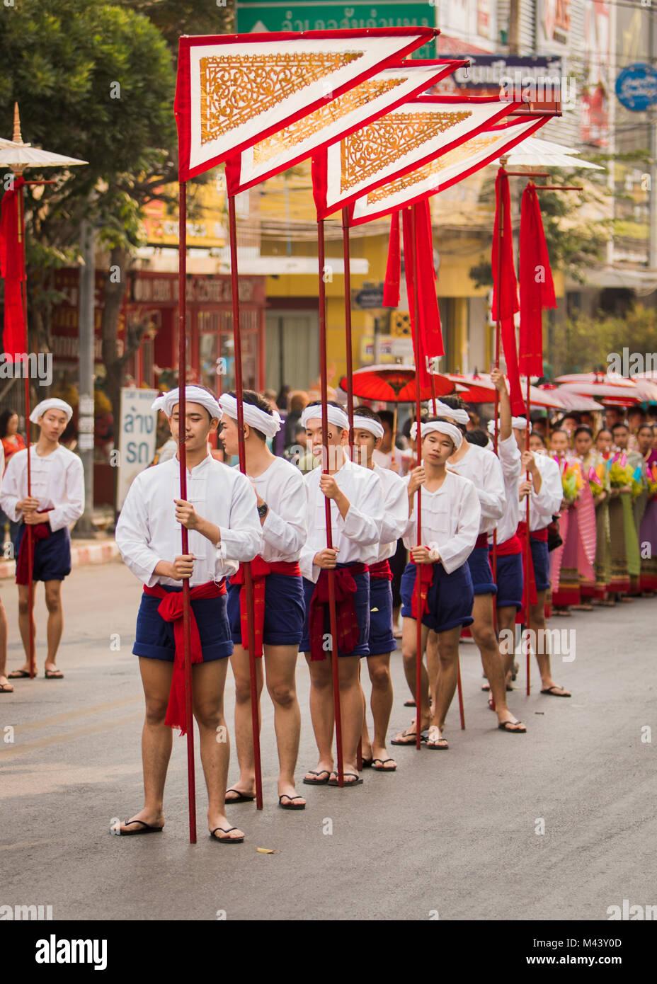 Chiang Mai Festival dei Fiori Foto Stock