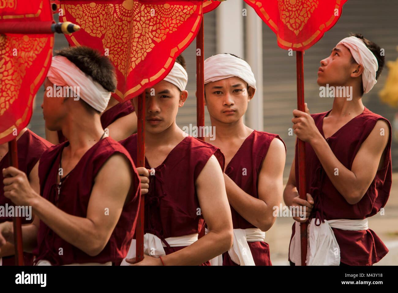 Chiang Mai Festival dei Fiori Immagini Stock