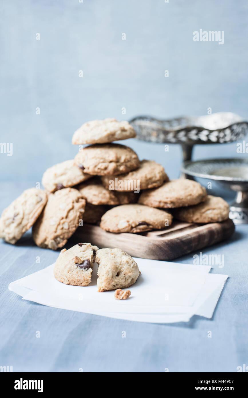 Una sana cookie sul pannello di legno Immagini Stock
