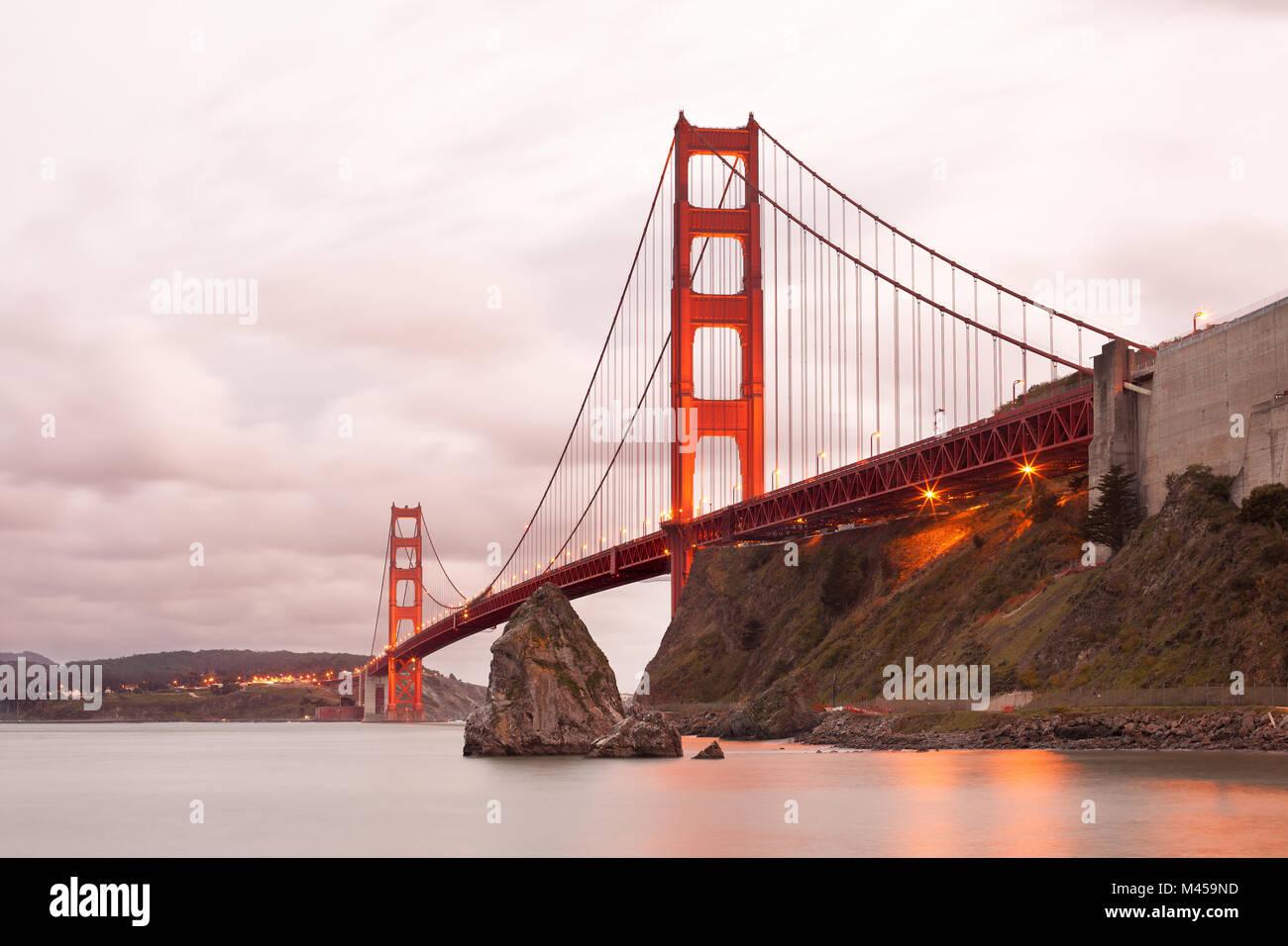 Il Golden Gate Bridge di San Francisco, California, Stati Uniti d'America Immagini Stock