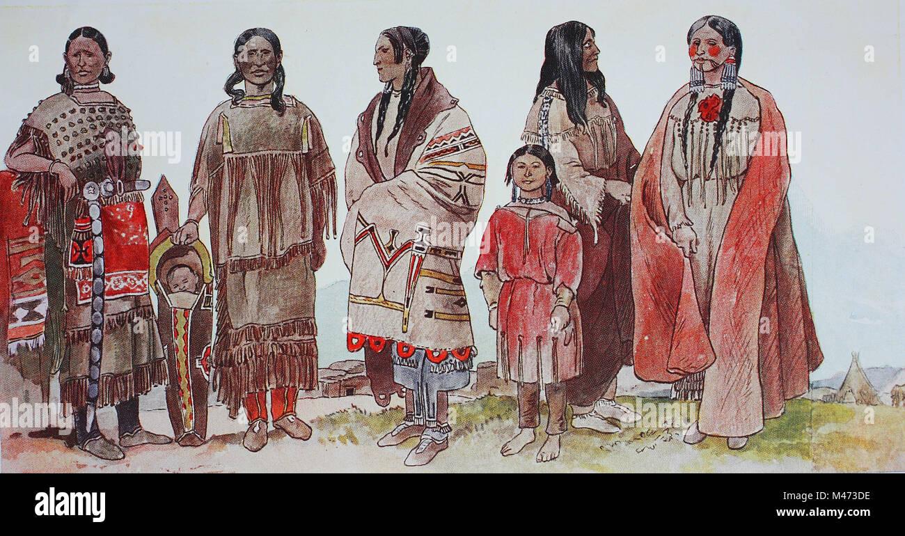 huge discount 8c66b 91edc Abbigliamento, Moda in Nord America, Indiani, da sinistra ...