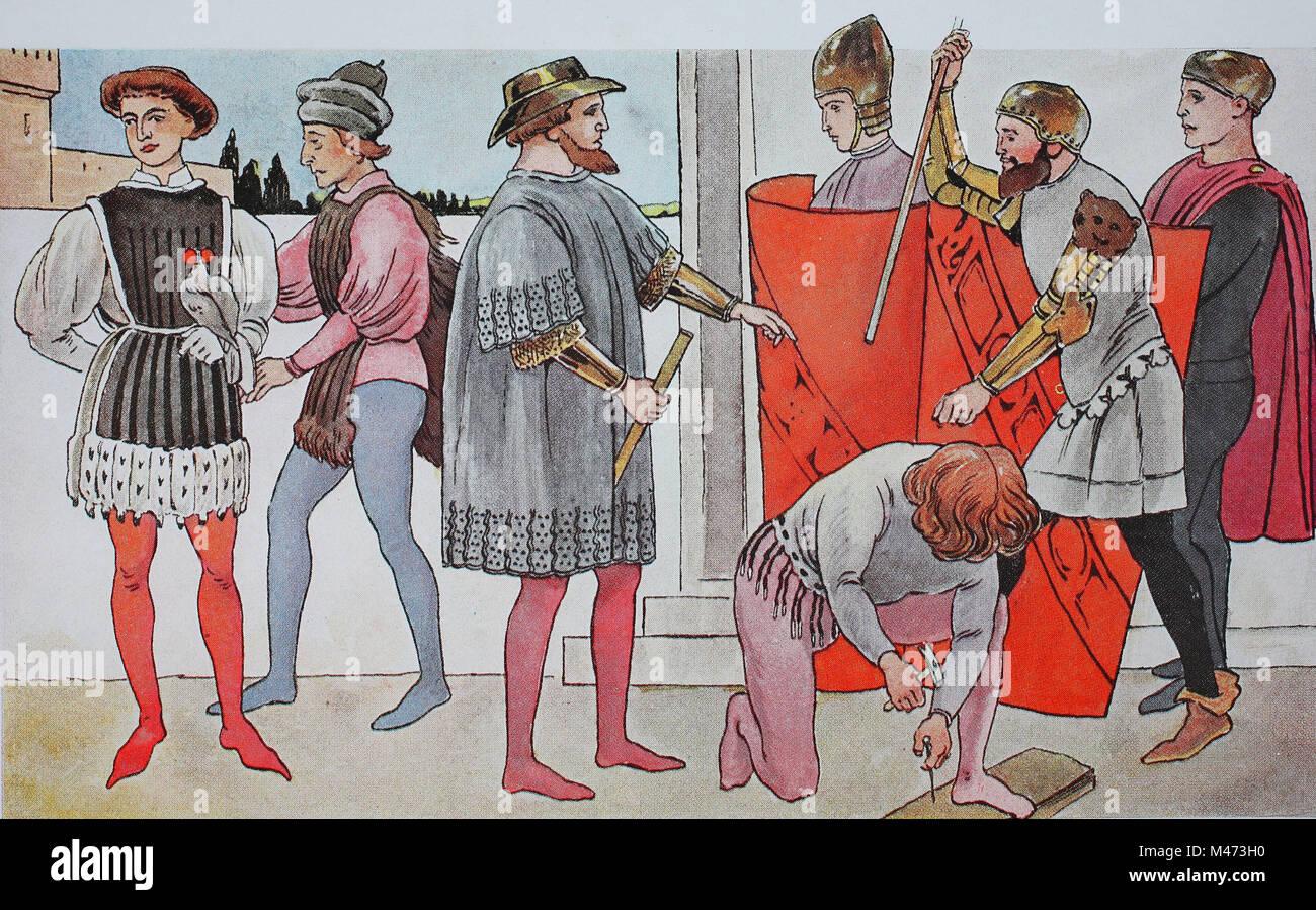 promo code b7032 db8e2 Abbigliamento, la moda in Italia, primo Rinascimento 1425 ...
