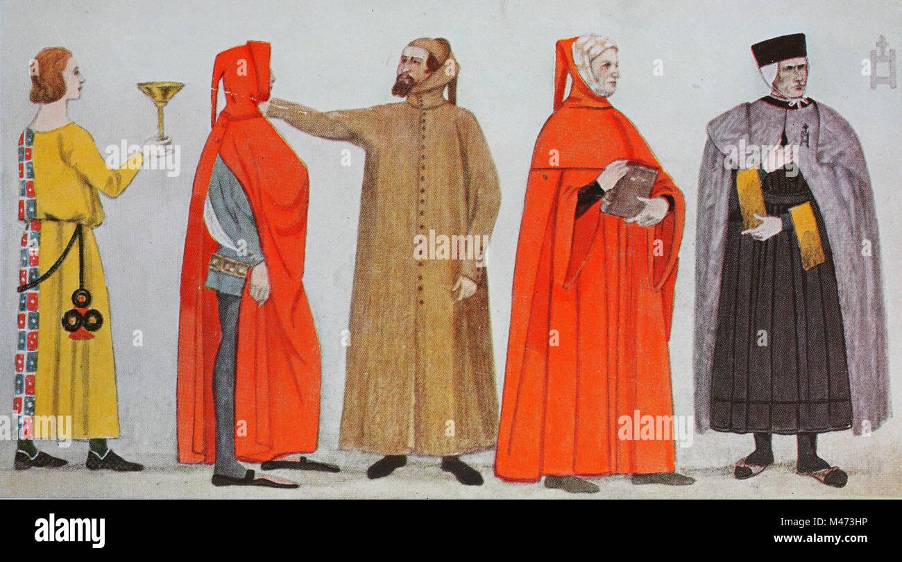 the best attitude 91ad3 9b1db Abbigliamento, la moda in Italia, primo Rinascimento nel XIV ...