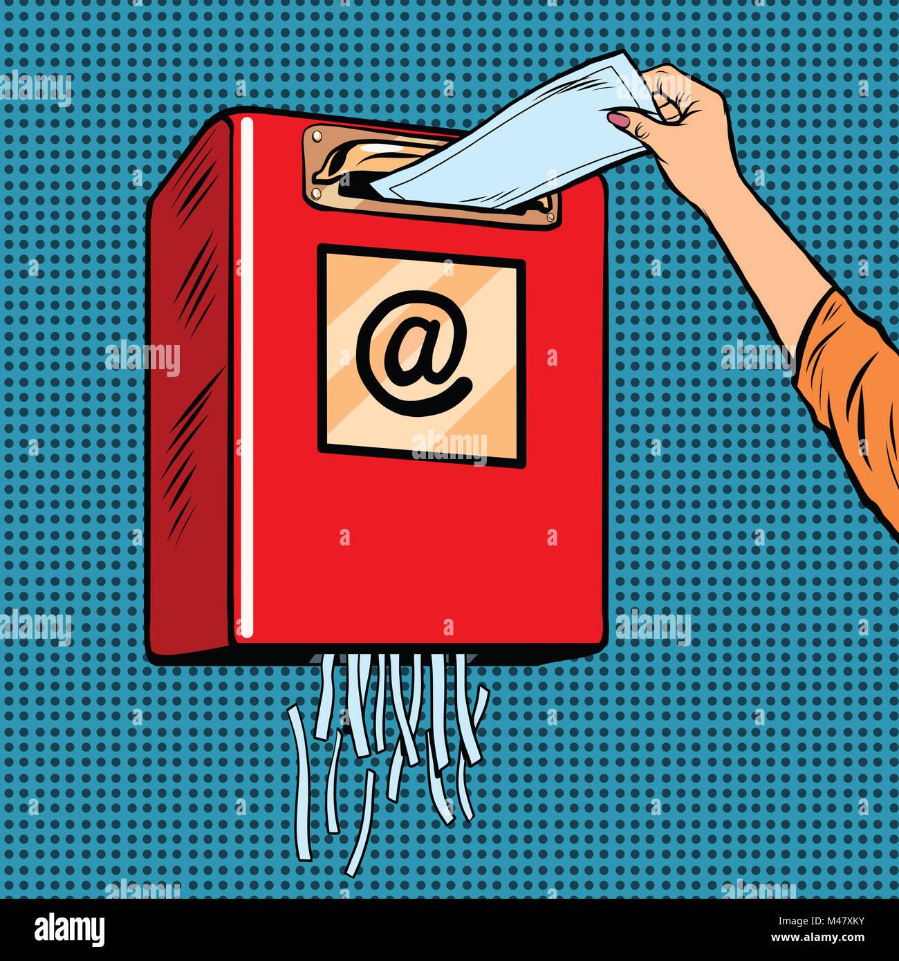 Cestino di spam della posta elettronica indesiderata Immagini Stock
