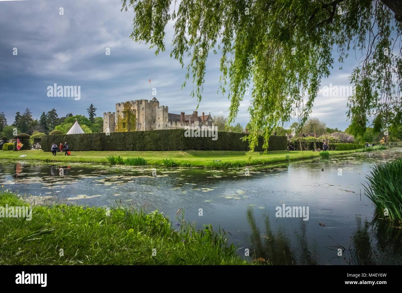 Il castello di Hever Castle nel Kent Immagini Stock