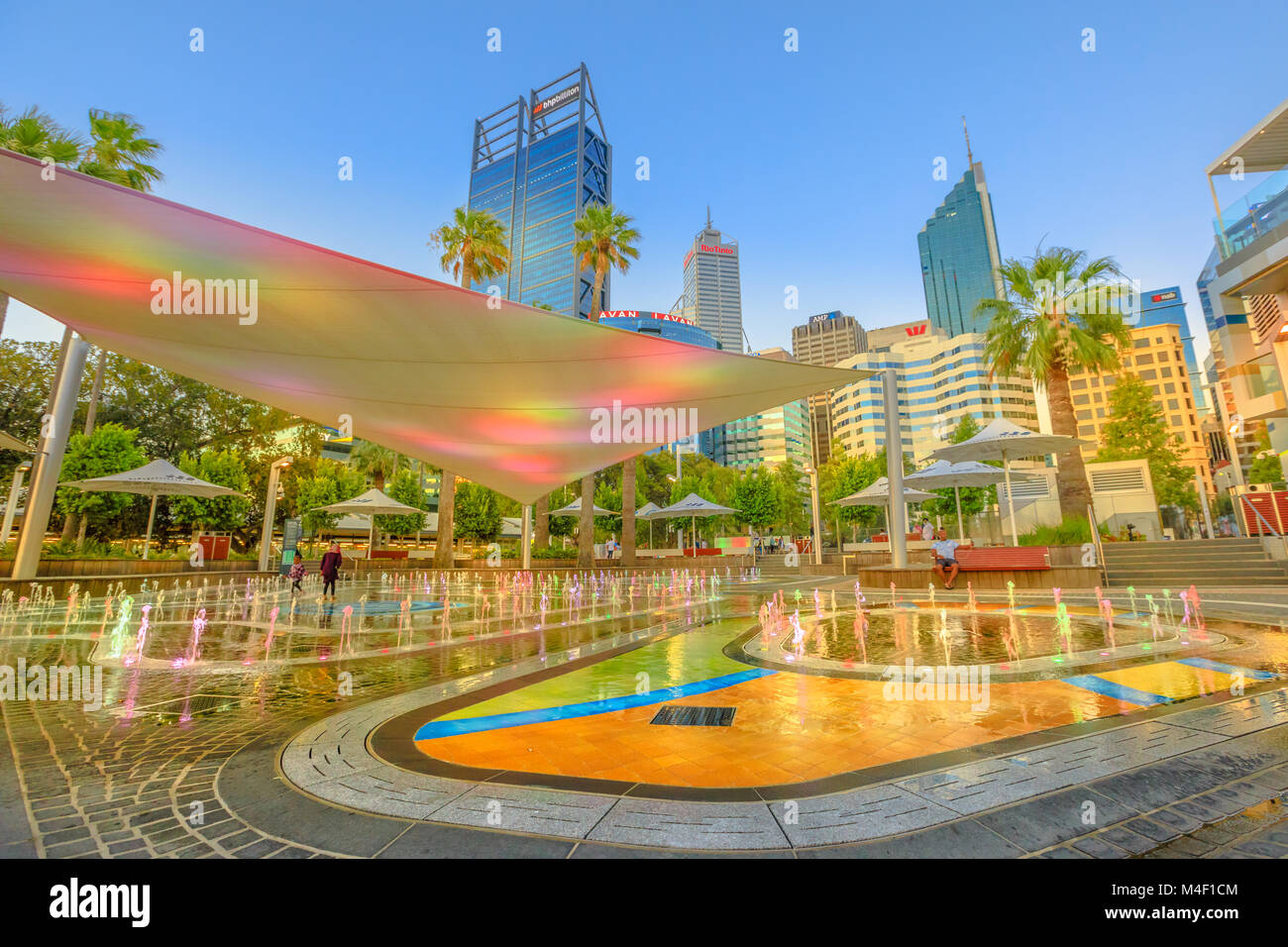 Perth australia jan divertente di getti di acqua