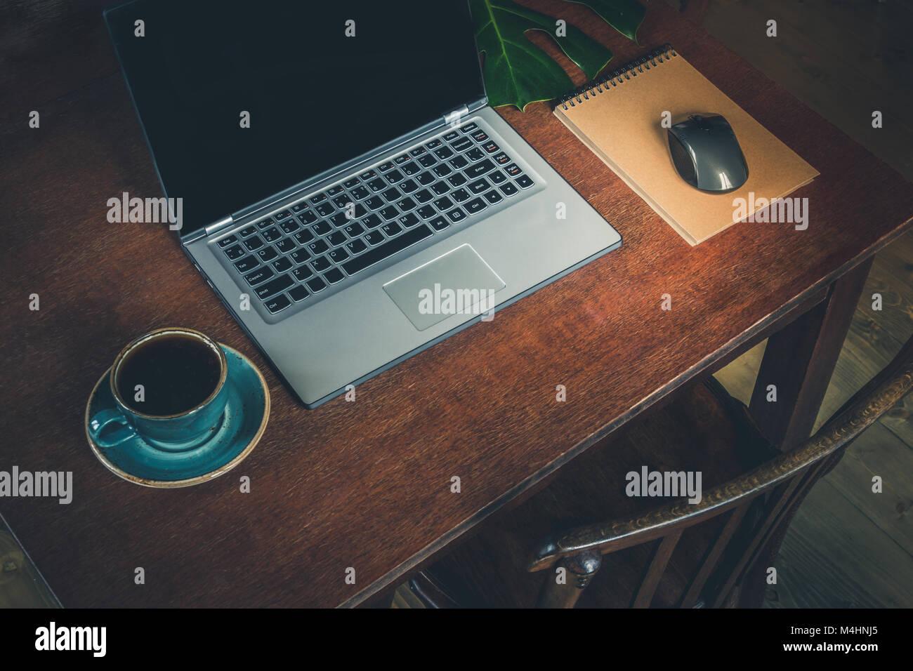 Postazione di lavoro Tavolo studio computer portatile scrivania in legno,Black
